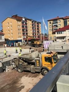 työmaa Korkeavuorenkadun Senioritalo 23.4.2018 kuva 1
