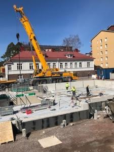 työmaa Korkeavuorenkadun Senioritalo 23.4.2018 kuva 2